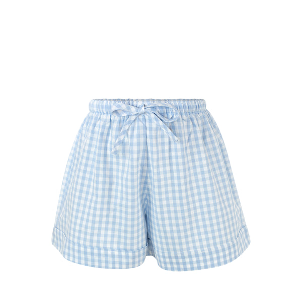 Collette Shorts - Blue Gingham