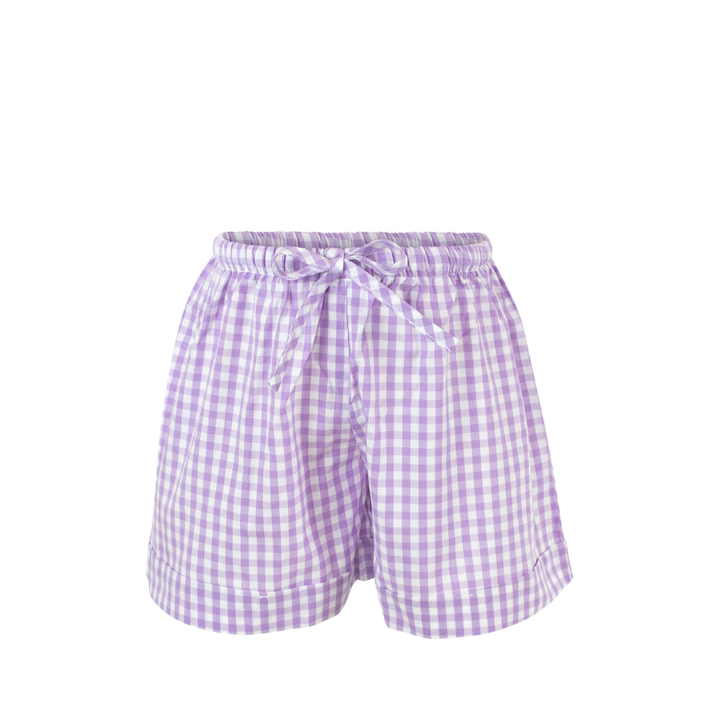 *Collette Shorts -Lilac Gingham