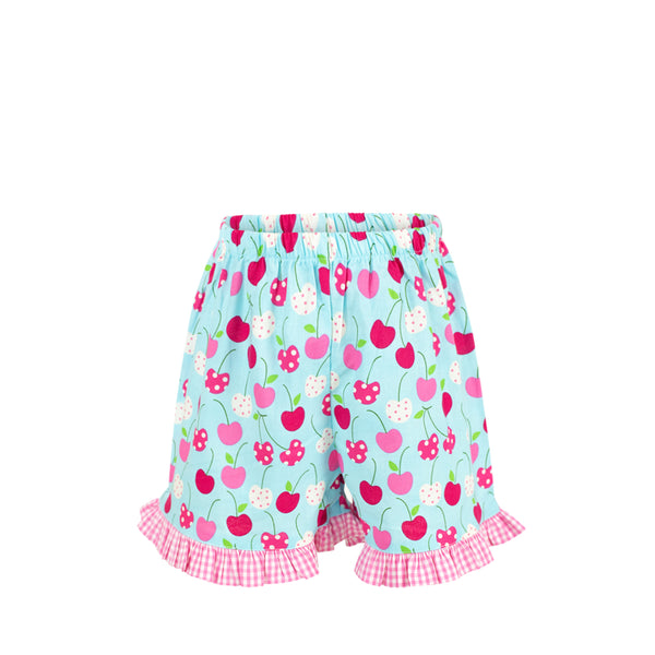 *Missy Short-Cherries with Hot Pink Gingham