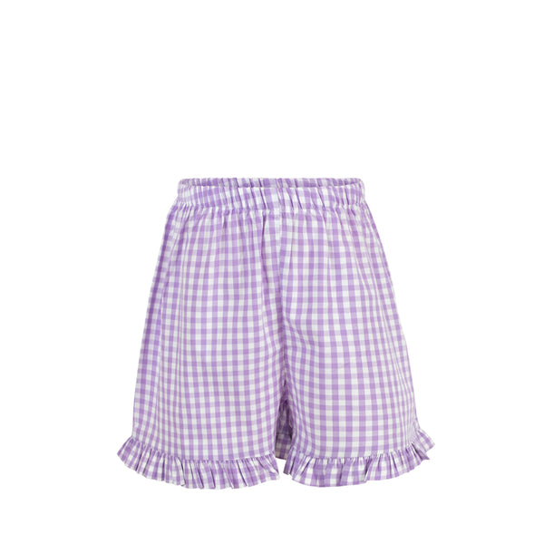 Missy Short-Lilac Gingham