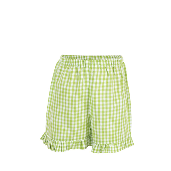 *Missy Short-Green Gingham
