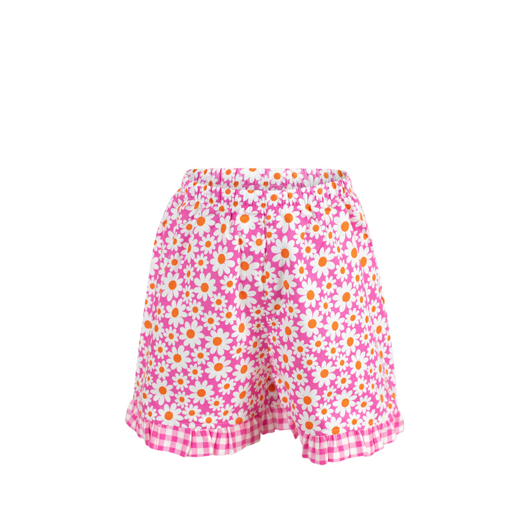 Missy Short-Daisy with Large Hot Pink Check Ruffle