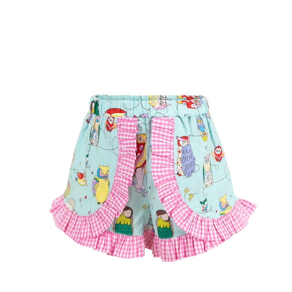 Gabby Shorts - Owls