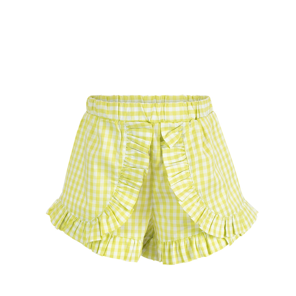 *Gabby Shorts - Citron Gingham