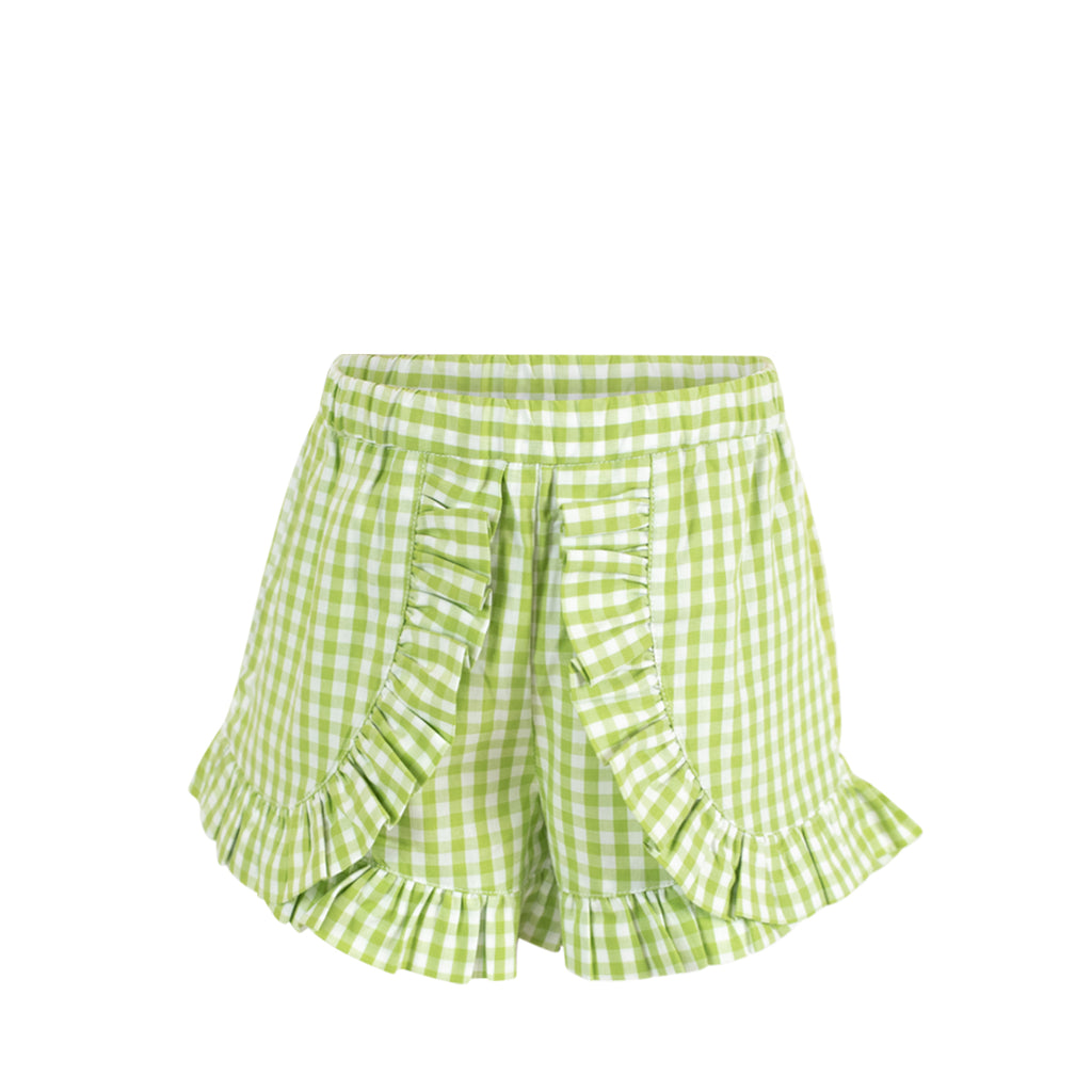 *Gabby Shorts - Green Gingham