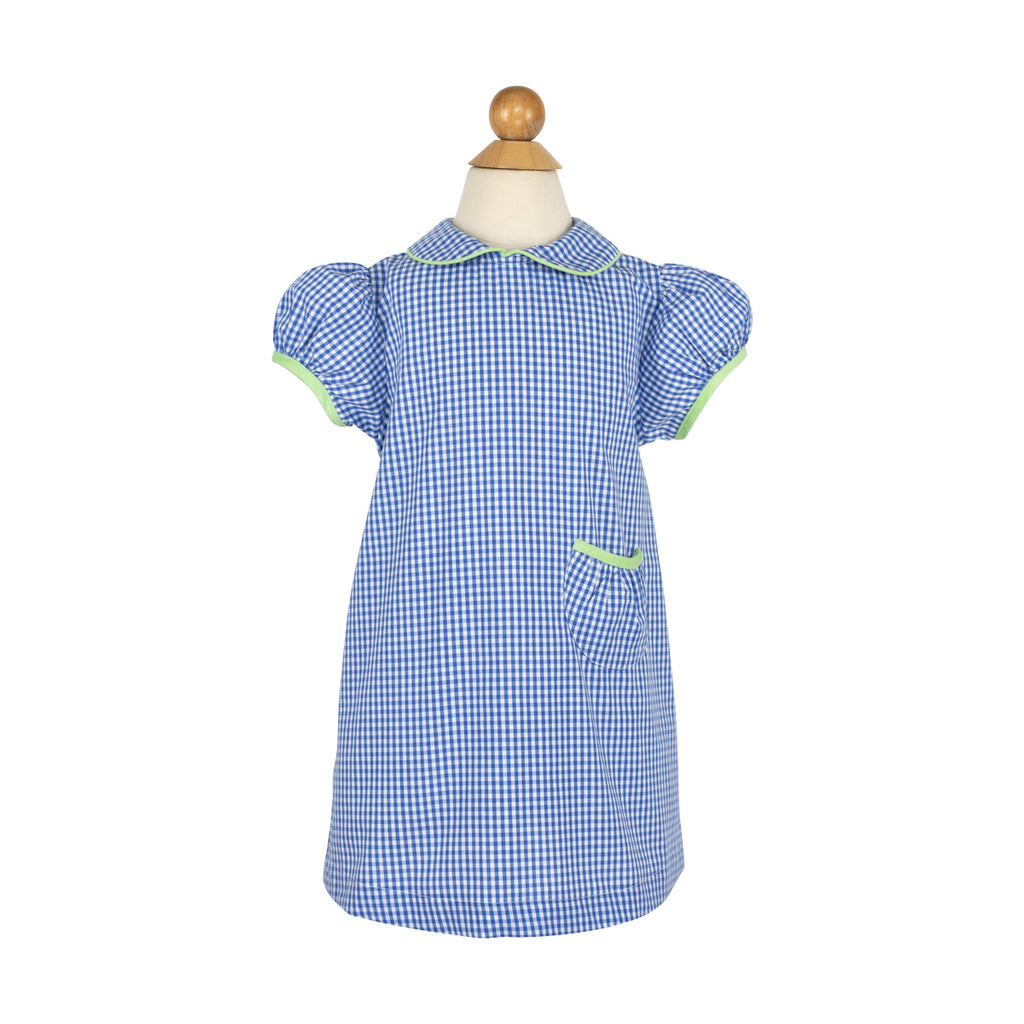 Mollie Dress- Sample Size 3 in Royal Gingham