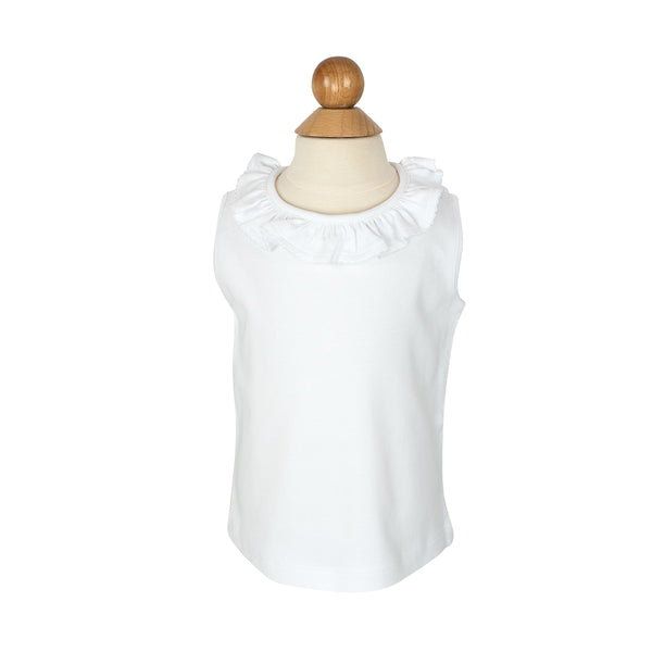 Dots Tea Shirt- White Trim- Sample Size 2