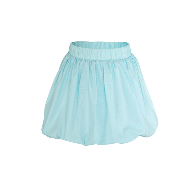 Wendy Skirt Sample Size 5 Aqua Microcheck