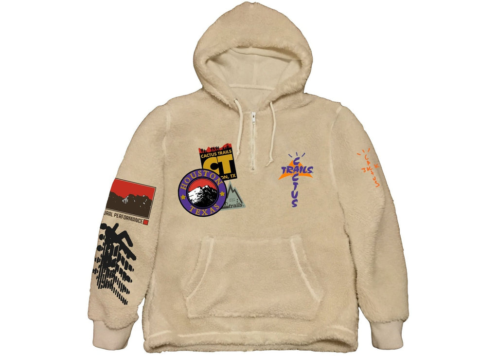Travis Scott Cactus Trails Half-Zip Sherpa Hoodie Natural