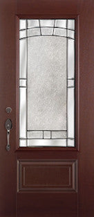 Mahogany Fiberglass Door : MAH-2EM c/w 22 x 48 Cove Glass