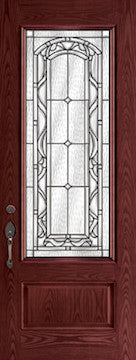 Oak Fiberglass Door : WG-8-3Q c/w 22 x 64 Brighton Glass