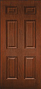 Oak Fiberglass Door : WG-6P