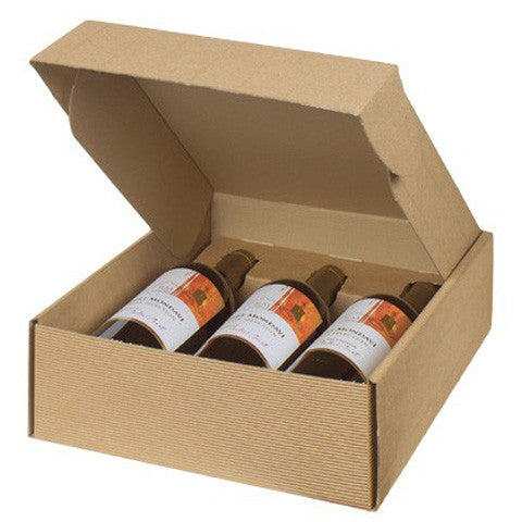 3 Bottle Packing Box