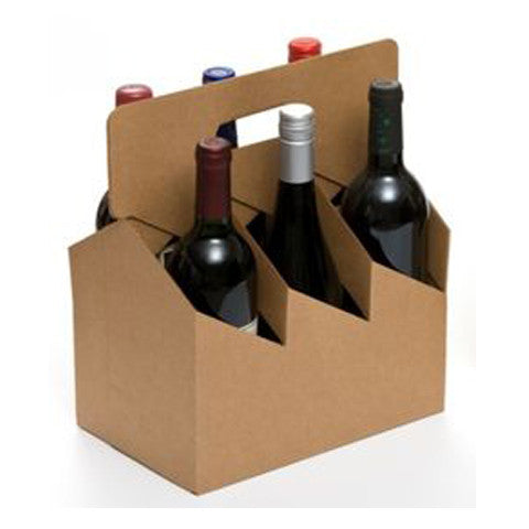 6 Pack Corrugated Wine Carrier