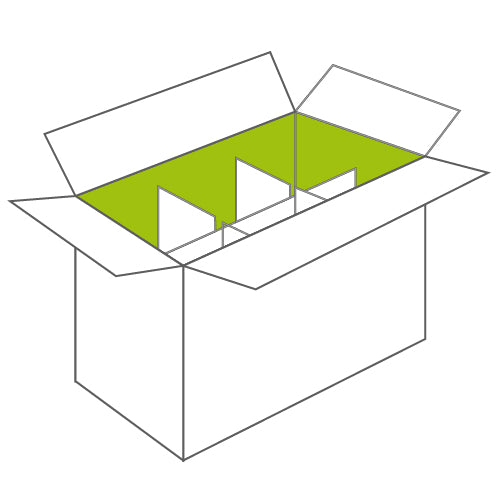 Corrugated Shipping Box with Dividers