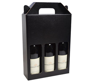 3 Bottle Wine Box with Window