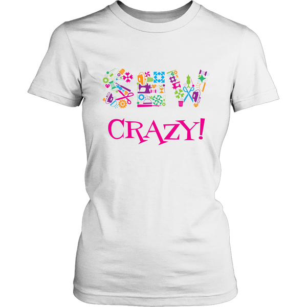 Sew Crazy Multi-Colored - District Women's Tee