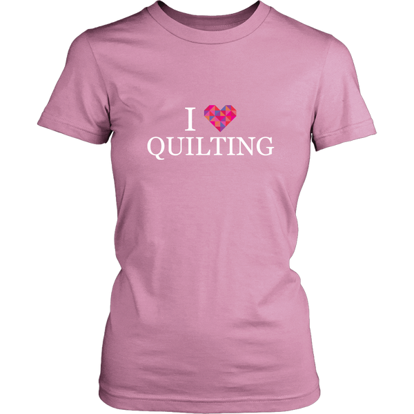 I <3 Quilting - District Womens Tee