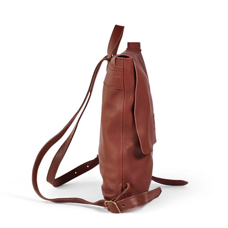 Henry unlined leather backpack - Tan