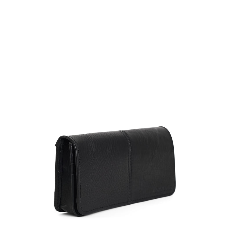 Gabriella leather wallet - Black
