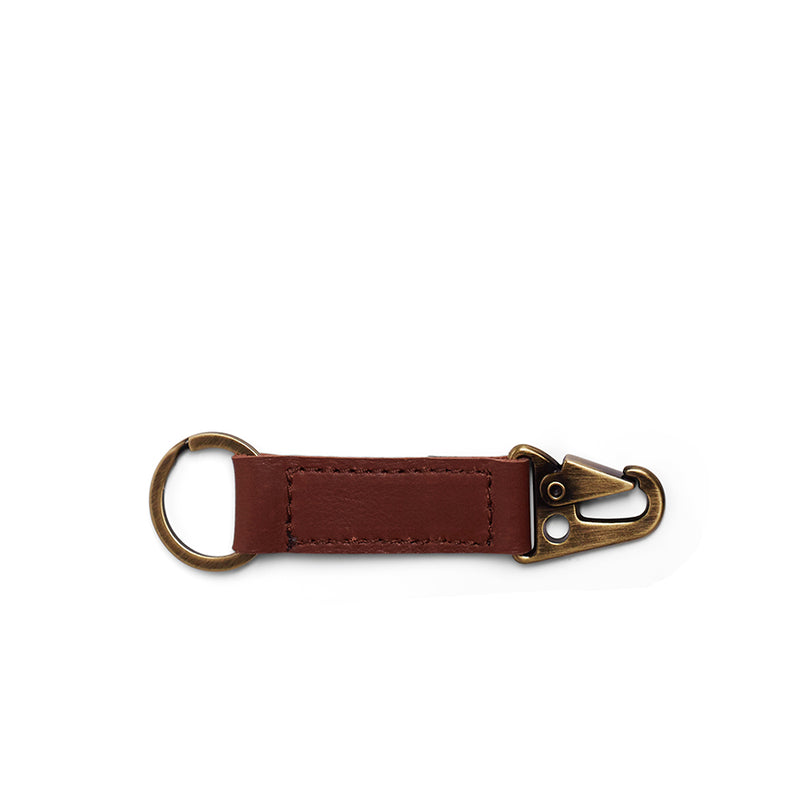 Rocco Leather Carabiner Keyring - Tan