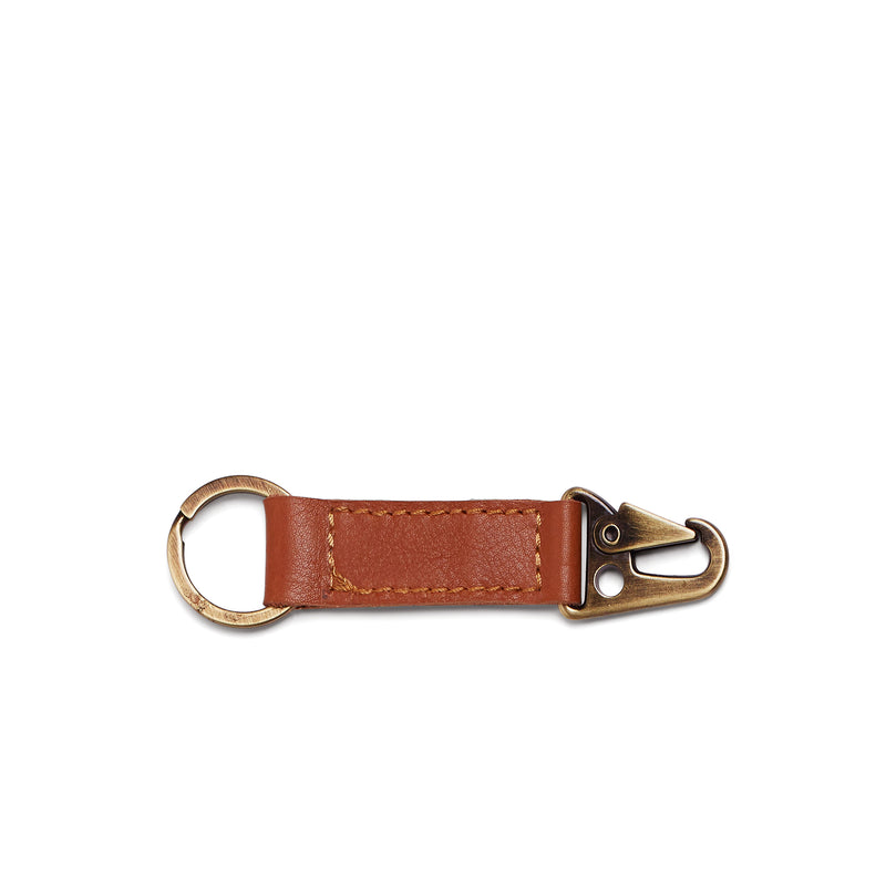 Rocco Leather Carabiner Keyring - Cider Tan