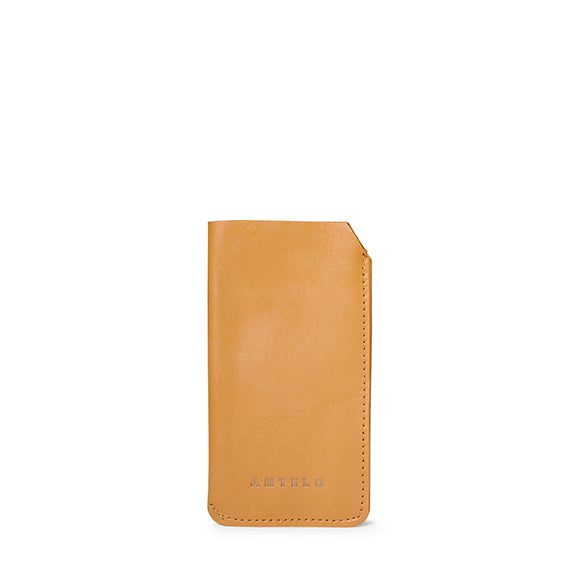 Lucas leather sunglass pouch - Mustard