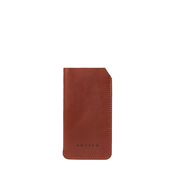 Lucas leather sunglass pouch - Tan