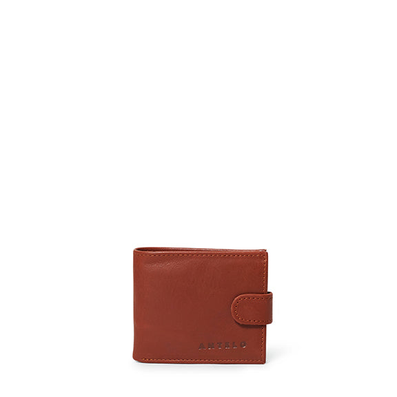 James mens leather bifold wallet - Tan