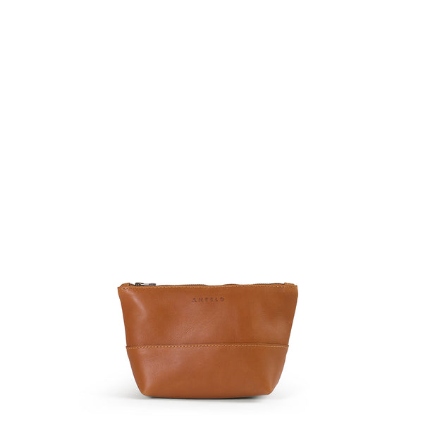 Alex small leather vanity - Cider
