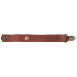 Maddie leather pacifier clip - Tan