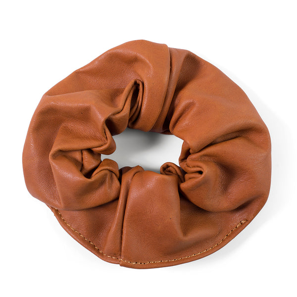 Ty leather scrunchie - Cider