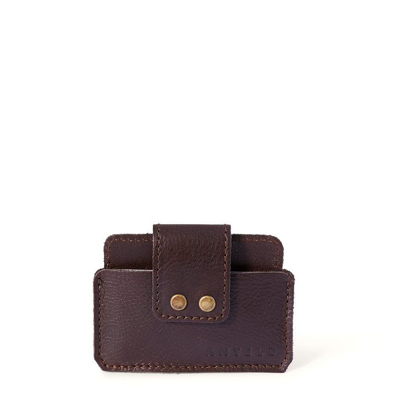 Cole leather card holder - Brown