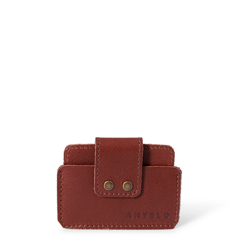 Cole leather card holder - Tan