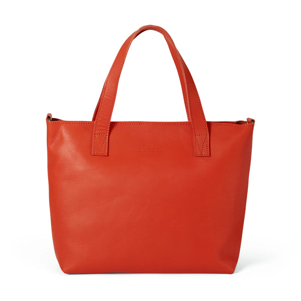 Katie leather mini tote crossbody - Koi