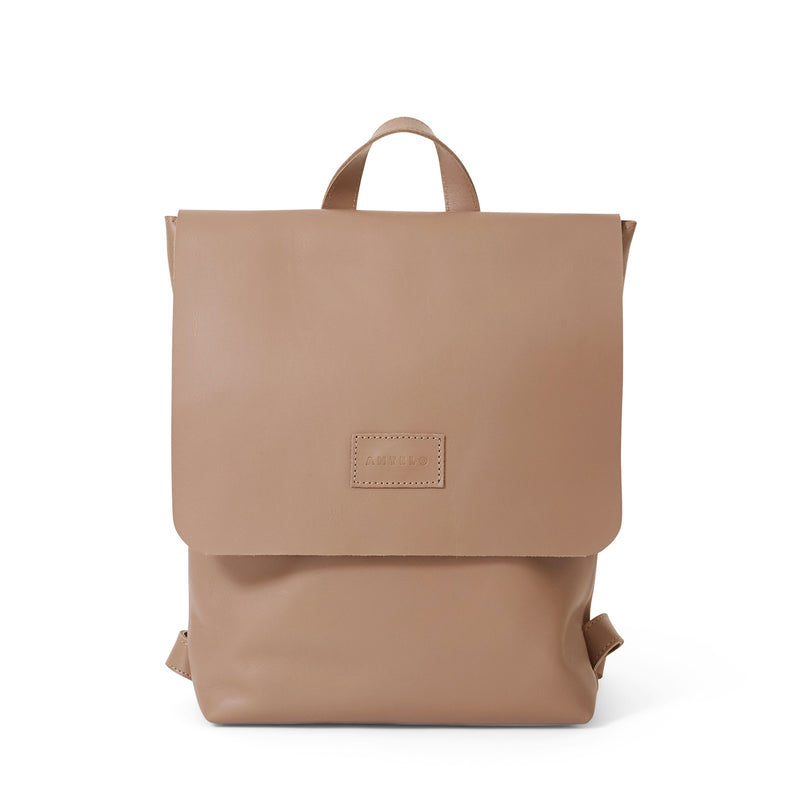 Henry unlined leather backpack - Sand