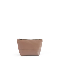 Alex small leather vanity - Sand
