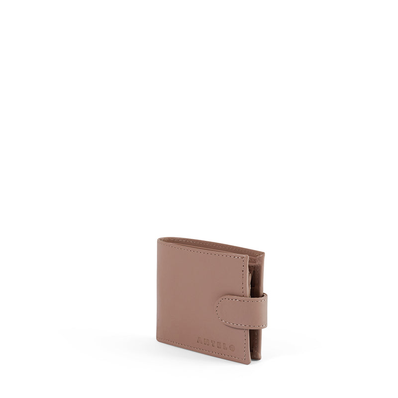 James mens leather bifold wallet - Sand
