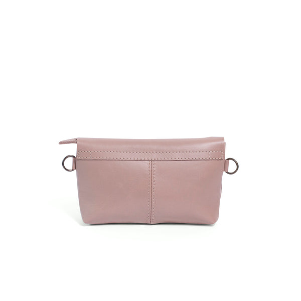Alfi Micro Leather Crossbody - Sand