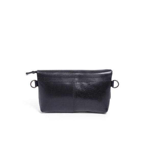 Alfi Micro Leather Crossbody - Black