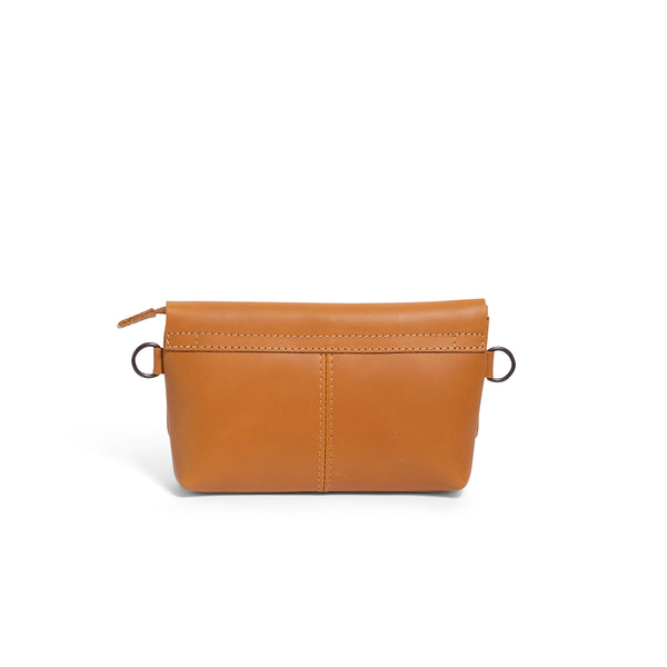Alfi Micro Leather Crossbody - Mustard