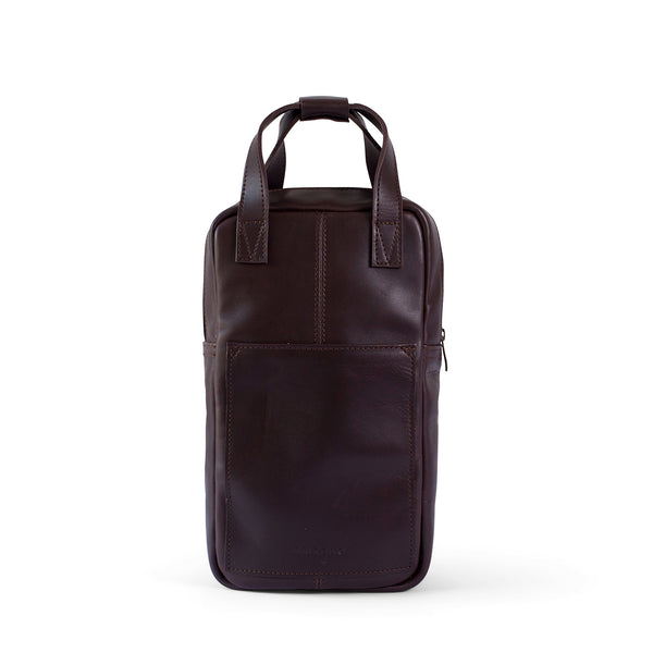 Hunter leather wine carrier - Brown