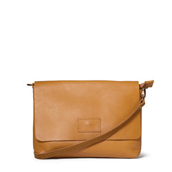 Jeanie XL leather crossbody - Mustard