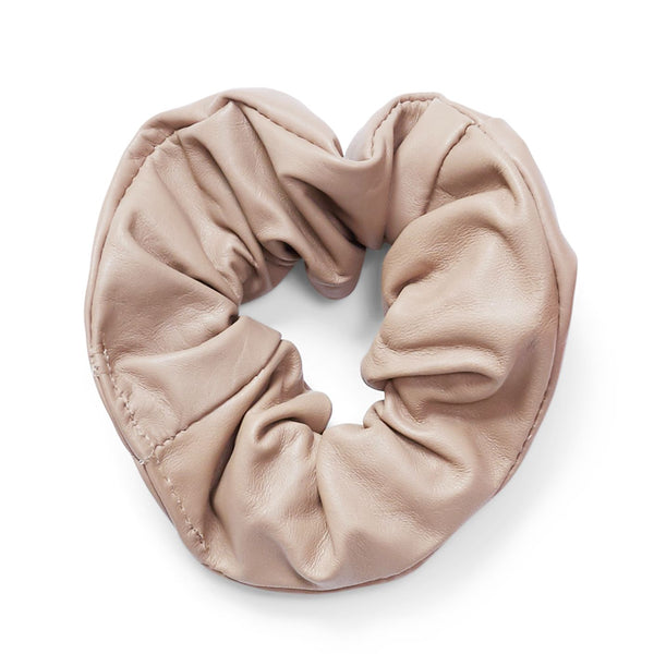 Ty leather scrunchie - Sand