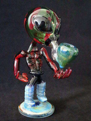 Smoking Pipes Alien Glass 6""