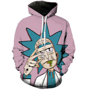 Morty Melts Hoodie Rick and Morty