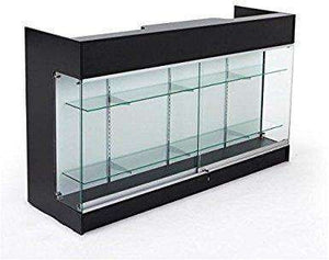 Sales Counter Tempered Glass Locking Doors