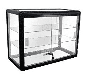 Display Black Aluminum Showcase Table Top w/ lock