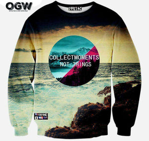 Collect Moments Not Things Sweater