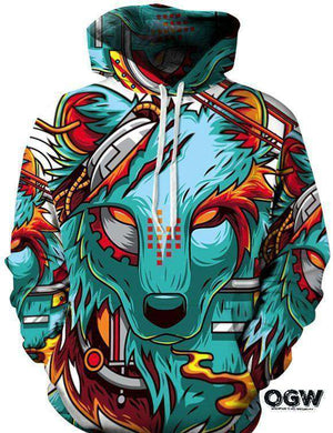 Cyber Wolf Hoodie [product_tag] OG WAREHOUSE - OG WAREHOUSE